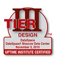 DataSpaceTier III Design Documentation Certificate from Uptime Institute
